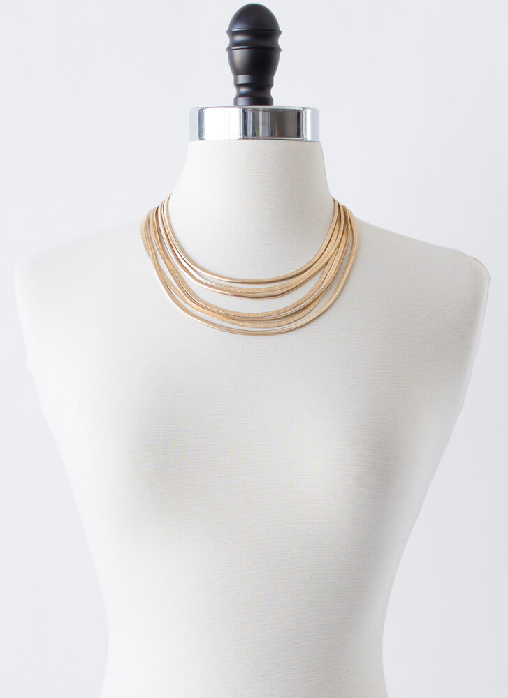 Strand And Deliver Layered Necklace Set GOLD
