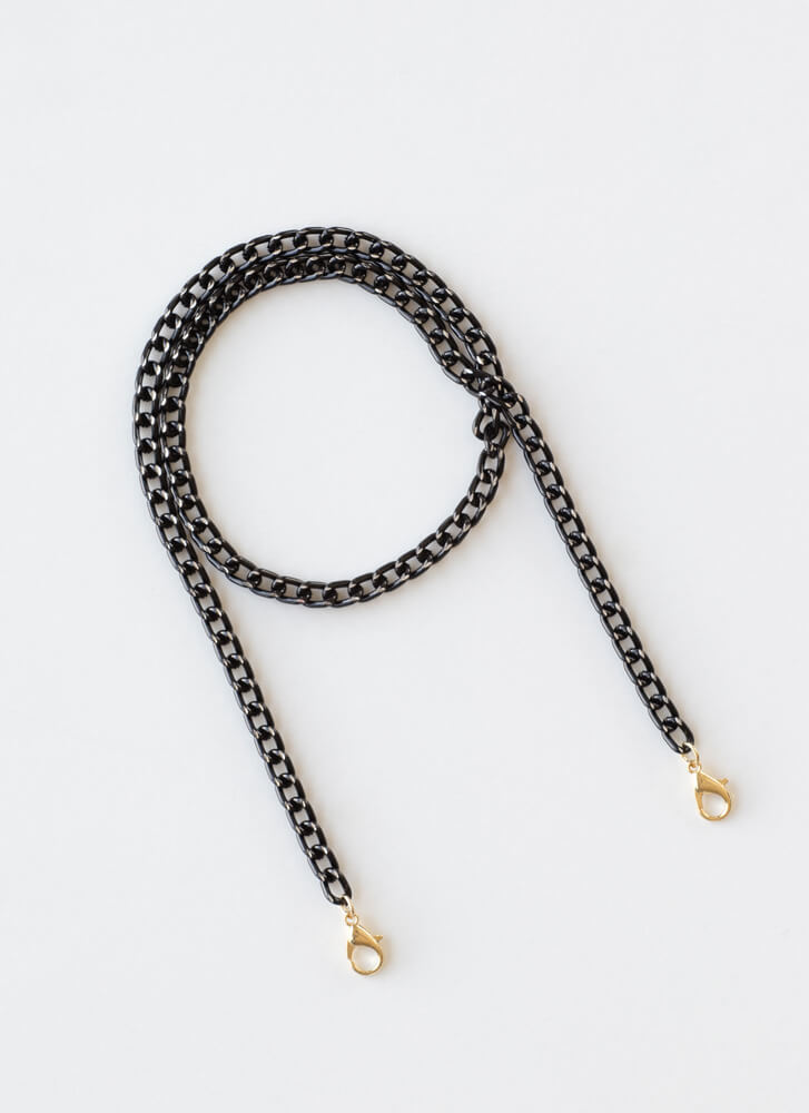 Necks To You Mask And Glasses Chain BLACK