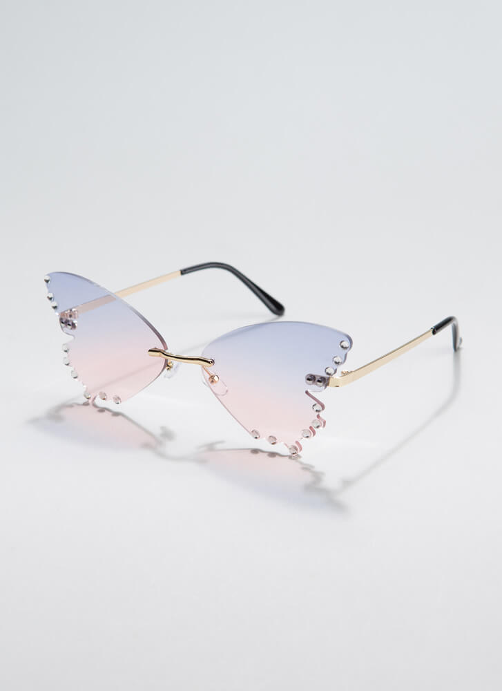 Become A Butterfly Jeweled Sunglasses PINK