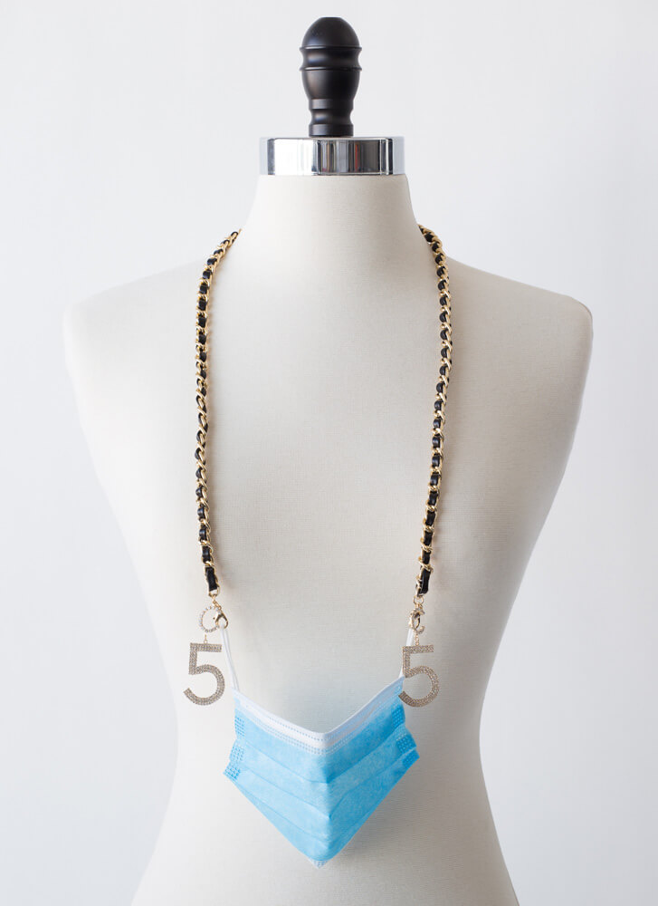 Five Degrees Mask And Glasses Chain GOLD