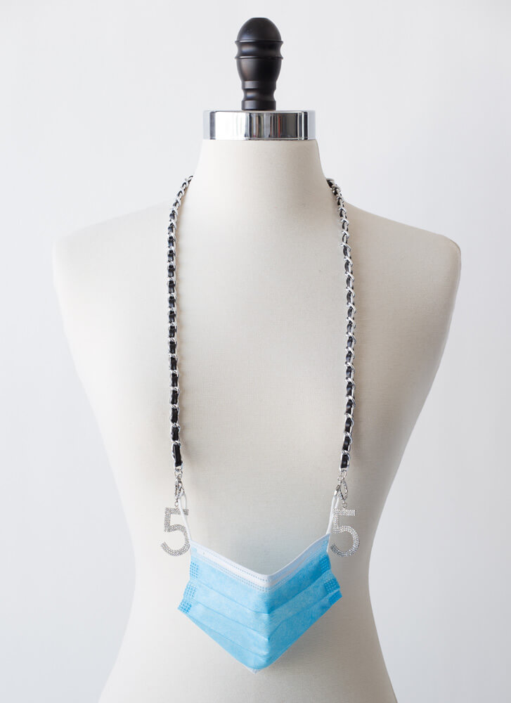 Five Degrees Mask And Glasses Chain SILVER