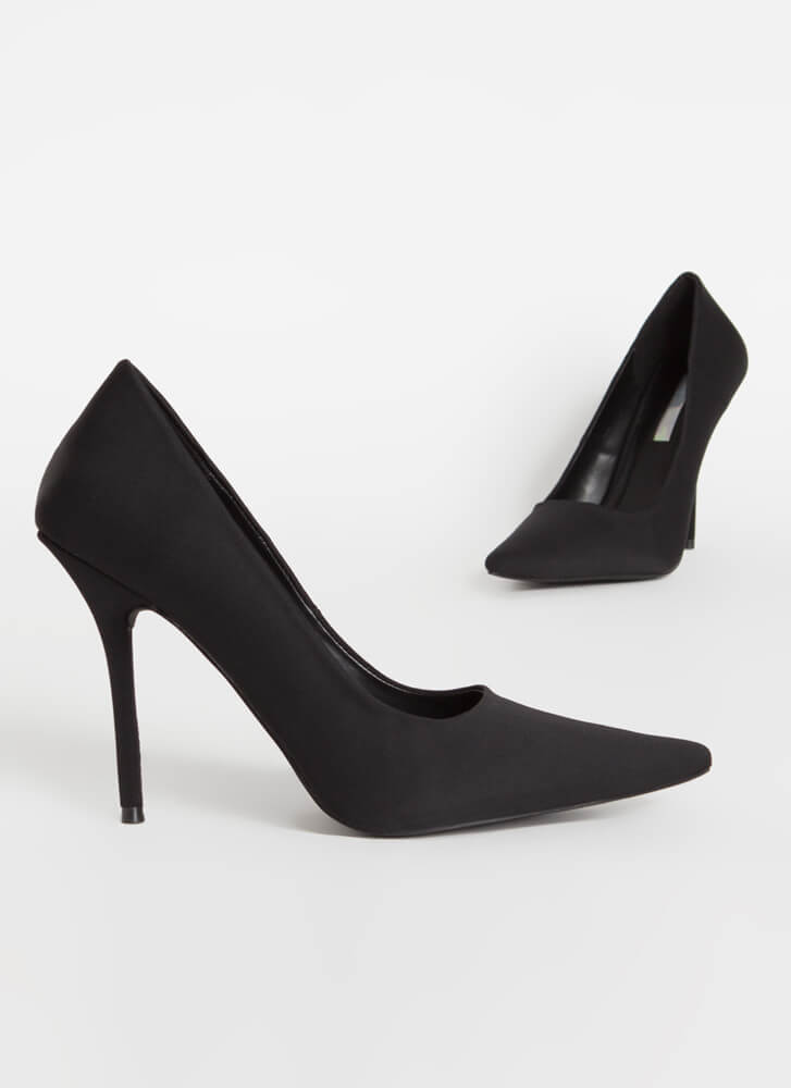 The Main Point Stiletto Heel Pumps BLACK