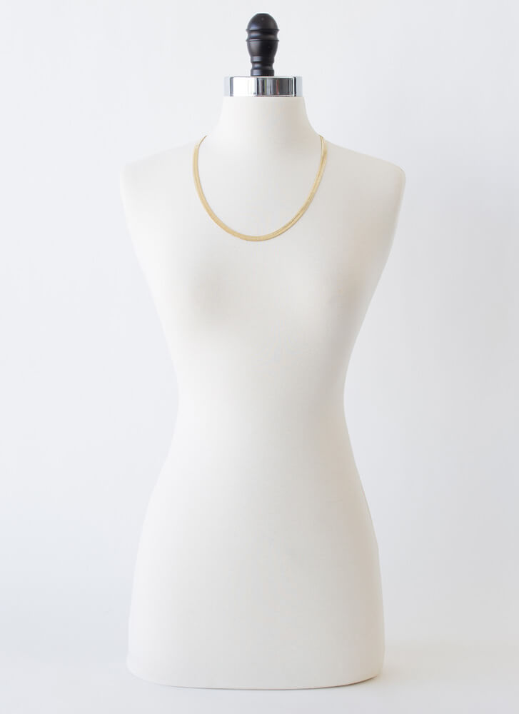 It's Simple Herringbone Chain Necklace GOLD