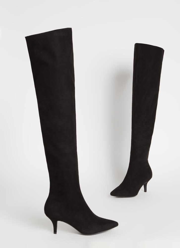 The Lowdown Pointy Short-Heeled Boots BLACK