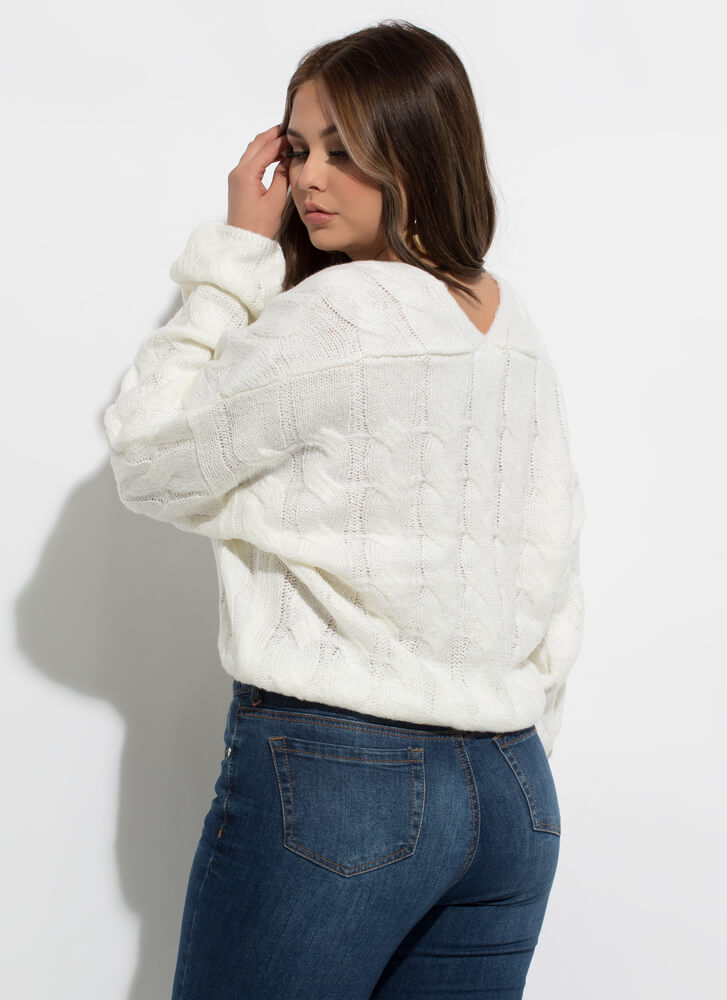 Nice And Warm Cable Knit Sweater CREAM