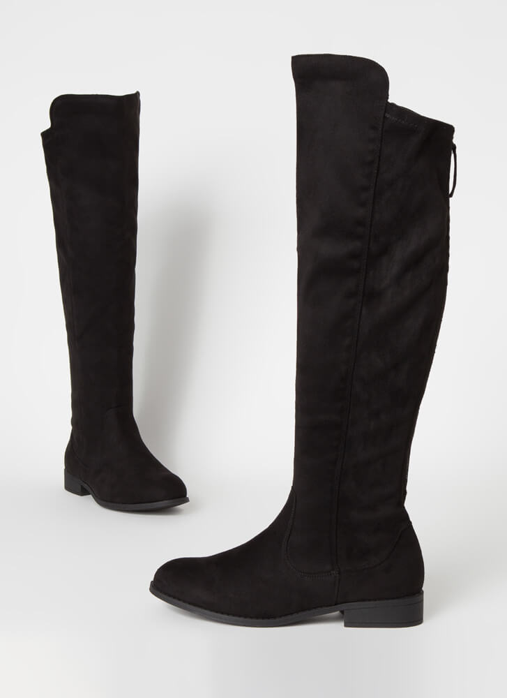 The Expandables Zip-Up Knee-High Boots BLACK