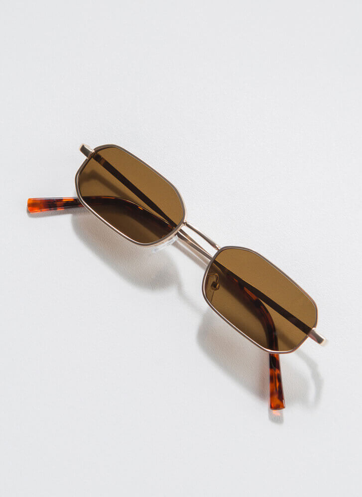 Small Victories Flat-Rimmed Sunglasses BROWN