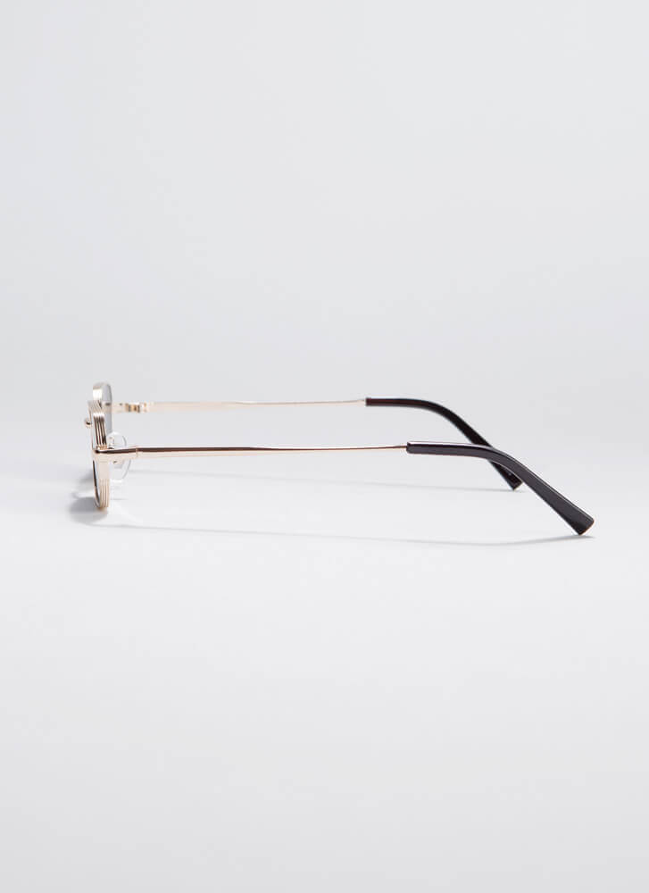 Small Victories Flat-Rimmed Sunglasses GOLD
