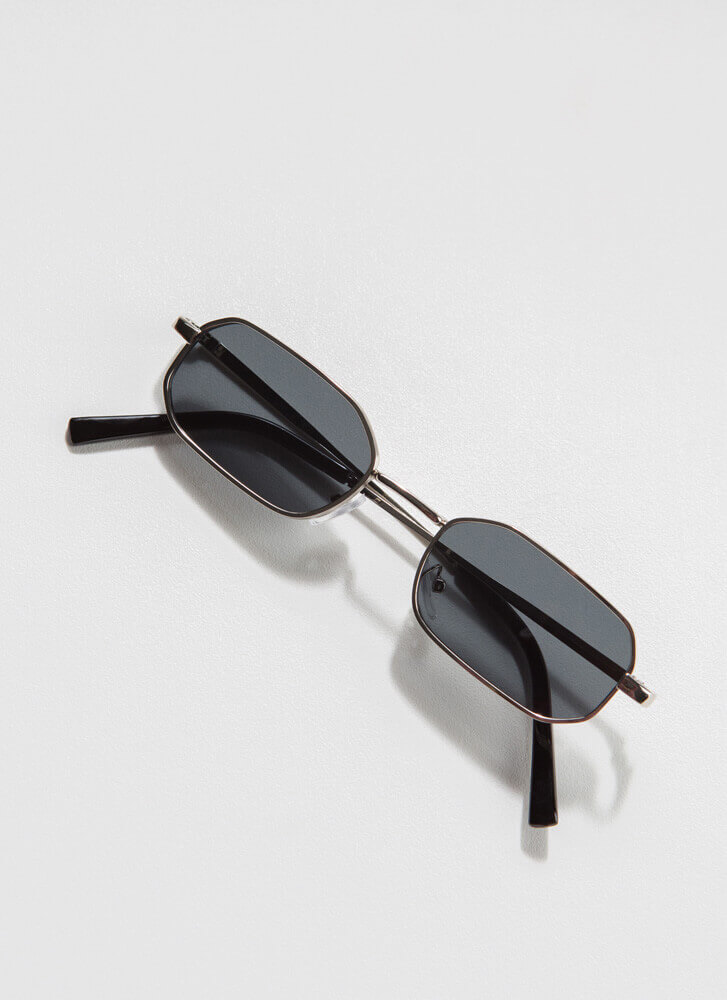 Small Victories Flat-Rimmed Sunglasses SILVER
