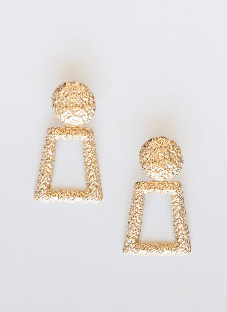 Who's There Small Doorknocker Earrings GOLD
