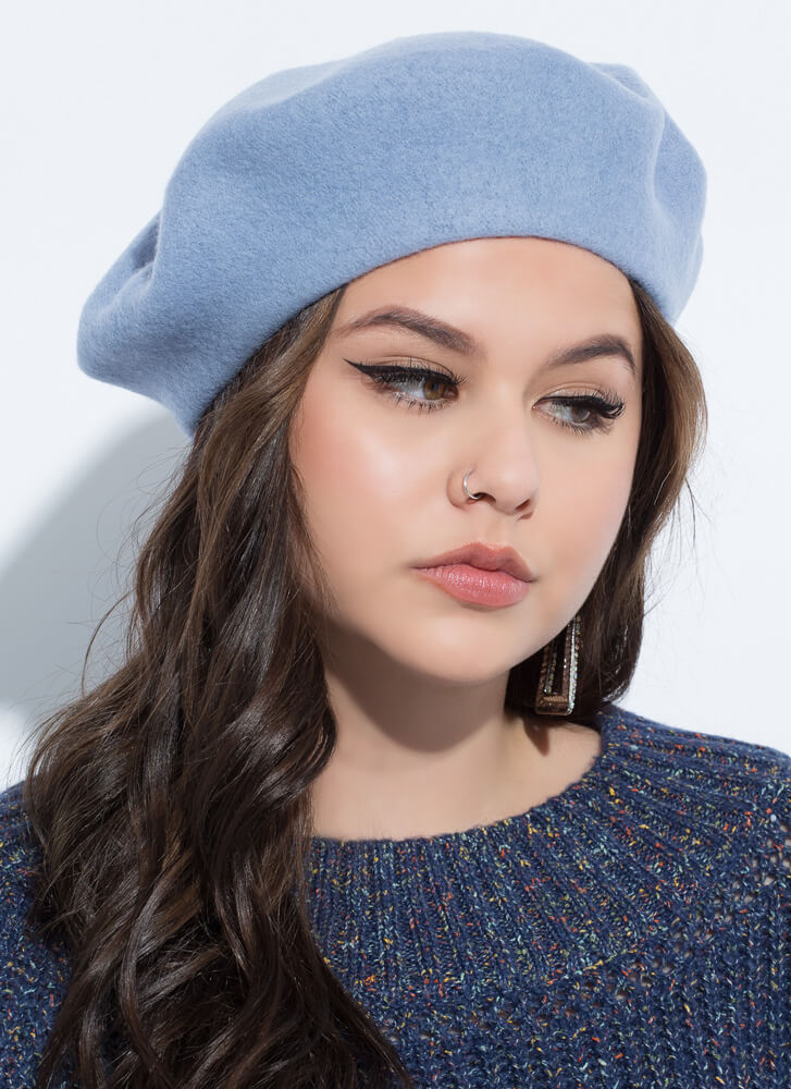 Do You Speak French Wool Beret BLUE