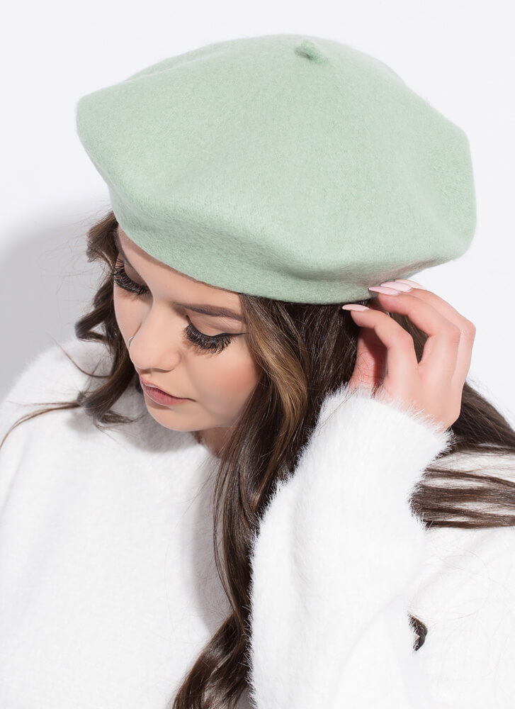 Do You Speak French Wool Beret MINT