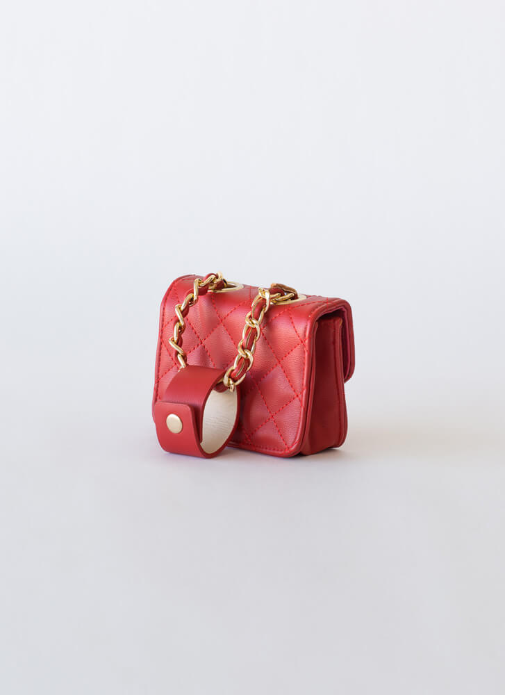 Hands Off Belt And Micro Purse Set RED