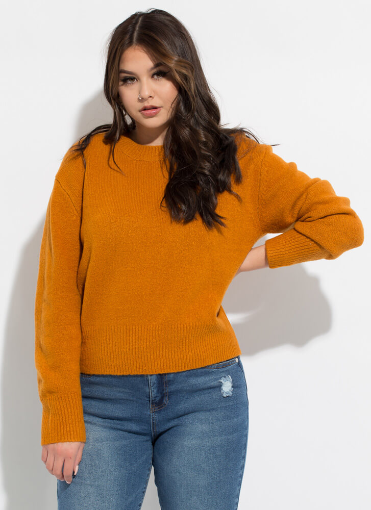 Warm And Cozy Soft Knit Sweater CINNAMON