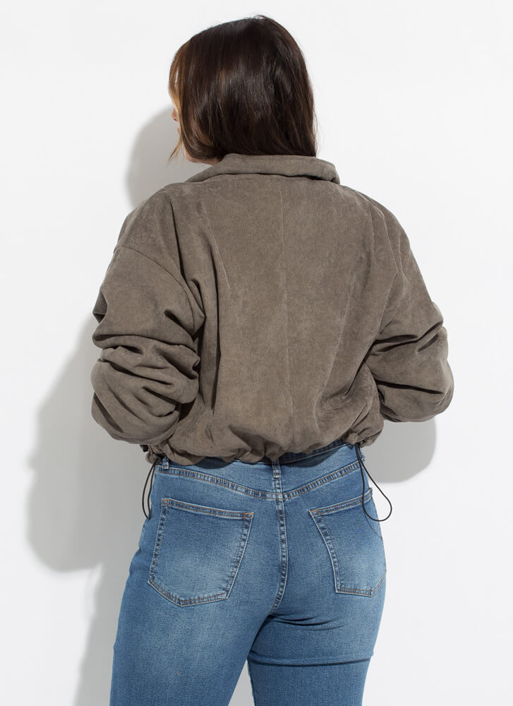 The 'Fit Fleece-Lined Corduroy Jacket OLIVE