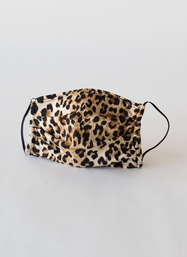 Fierce Look Pocketed Leopard Face Mask LEOPARD
