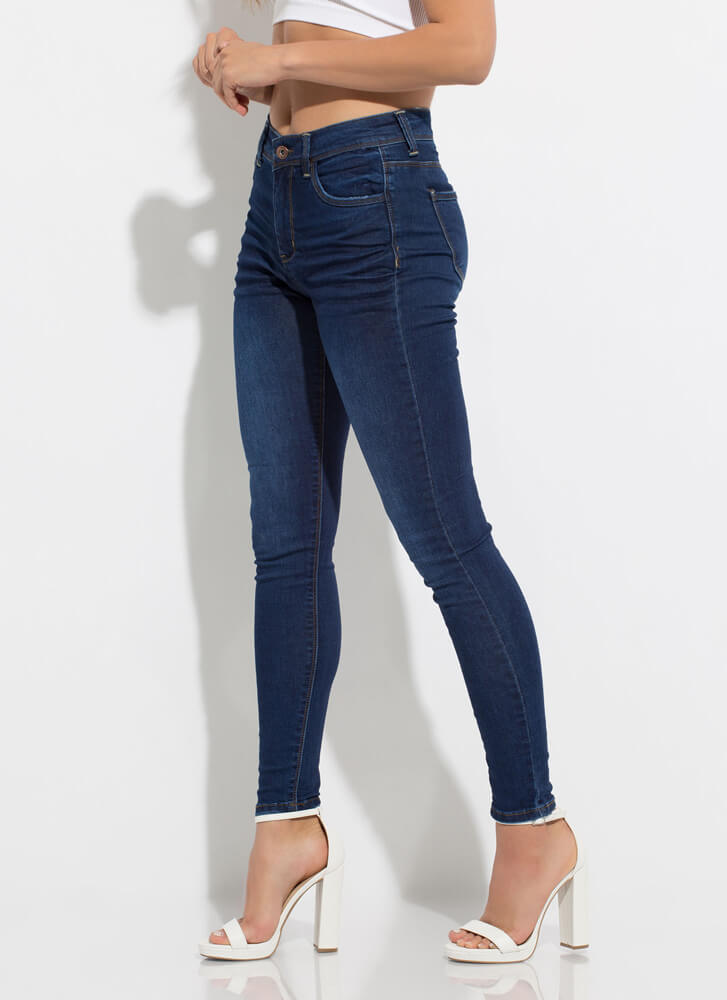 In-Crease Whiskered Skinny Jeans DKBLUE