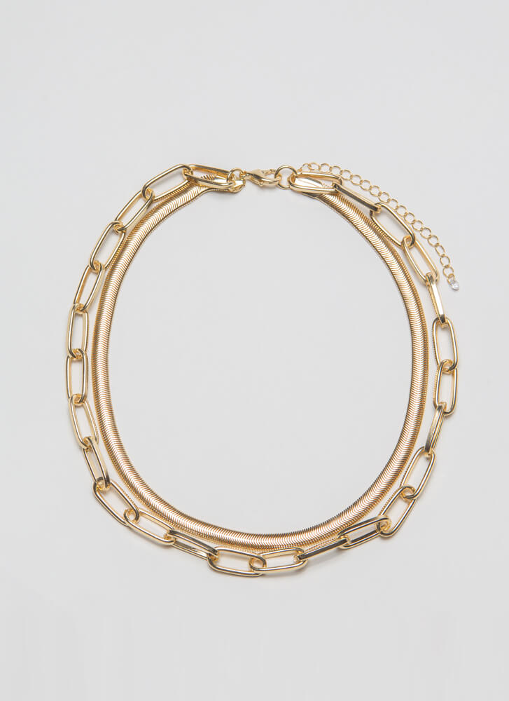 Two Chainz Choker Necklace GOLD