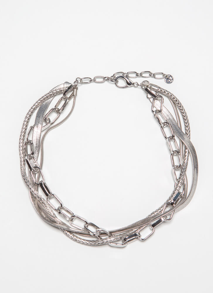 One For All Bundled Chain Choker SILVER