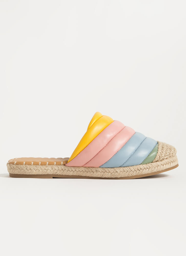 Colorful World Padded Braided Sandals YELLOW