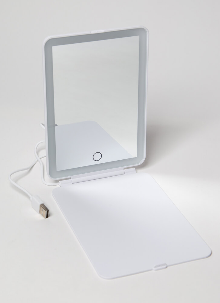 Face It Rechargeable LED Makeup Mirror WHITE