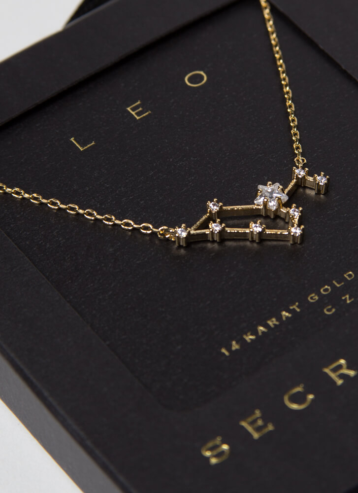 Leo Constellation Charm Necklace GOLD