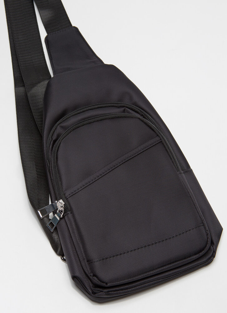 And Away We Go Sling Backpack BLACK