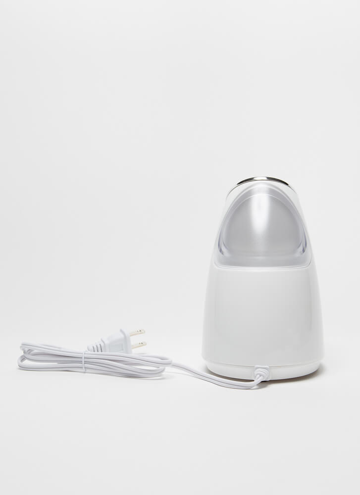 Spa Day Compact Nanoionic Facial Steamer WHITE