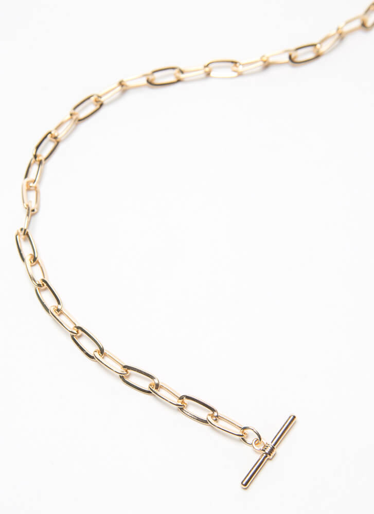 I Heart You So Much Toggle Charm Choker GOLD