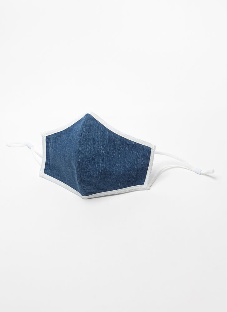 Can't Live Without You Denim Face Mask DENIM