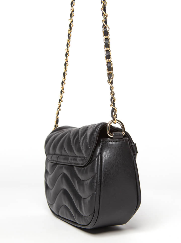 V's The One Quilted Chain Strap Purse BLACK
