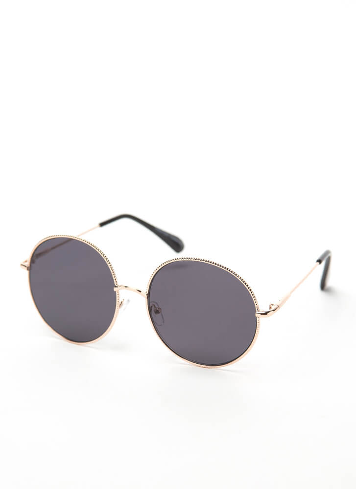 Make The Rounds Trimmed Sunglasses BLACK
