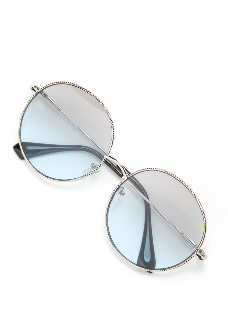 Make The Rounds Trimmed Sunglasses GREEN