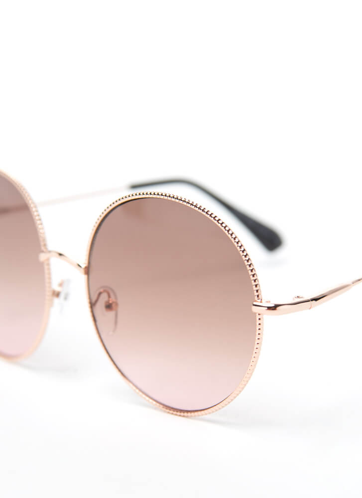 Make The Rounds Trimmed Sunglasses PINK