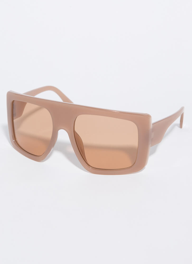 The Slopes Oversized Goggle Sunglasses BROWN