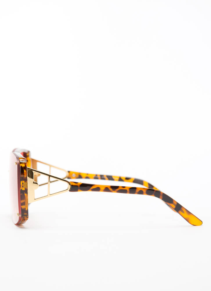 Hype Studded Metallic Accent Sunglasses PINK