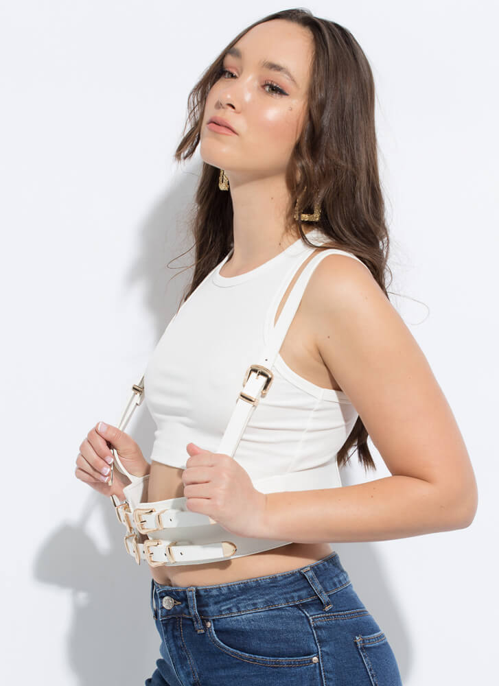 Buckles For Days Harness Belt WHITE