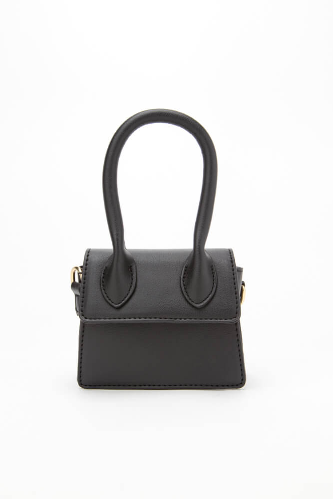 It's Handled Faux Leather Micro Purse BLACK
