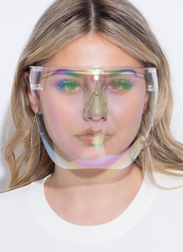 Extra Coverage Clear Face Shield Glasses CLEAR