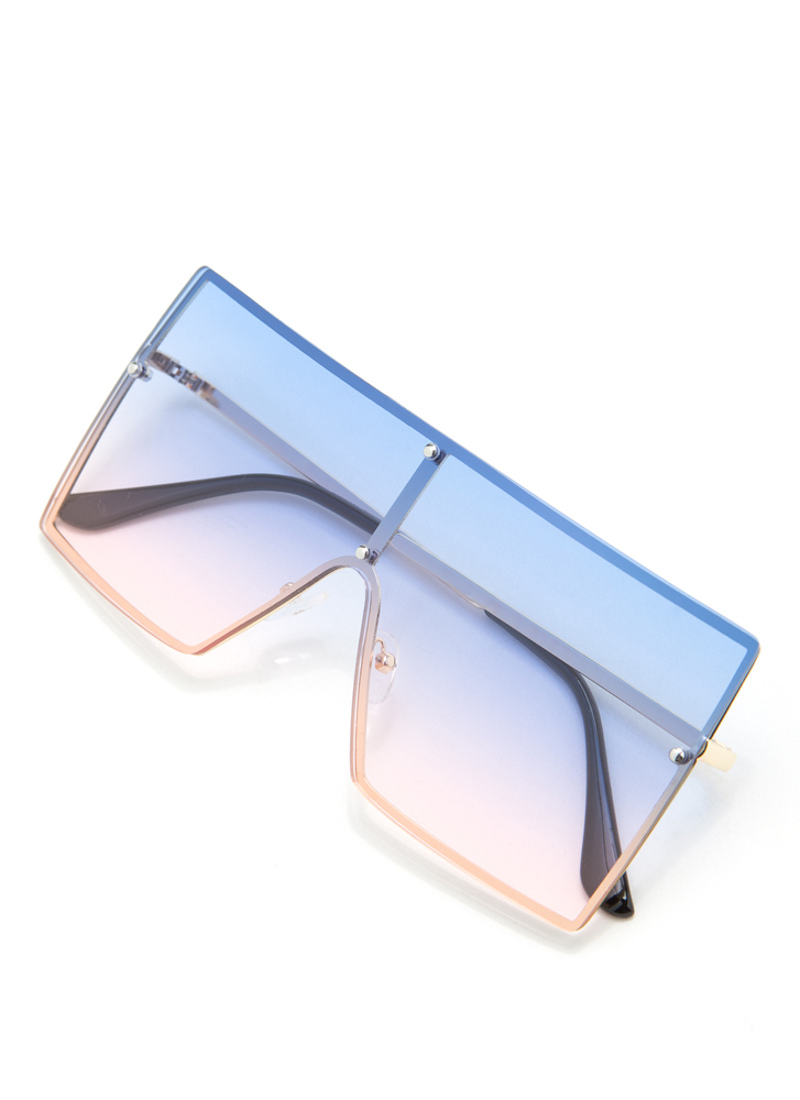 Squared Away Ombre Sunglasses BLUE