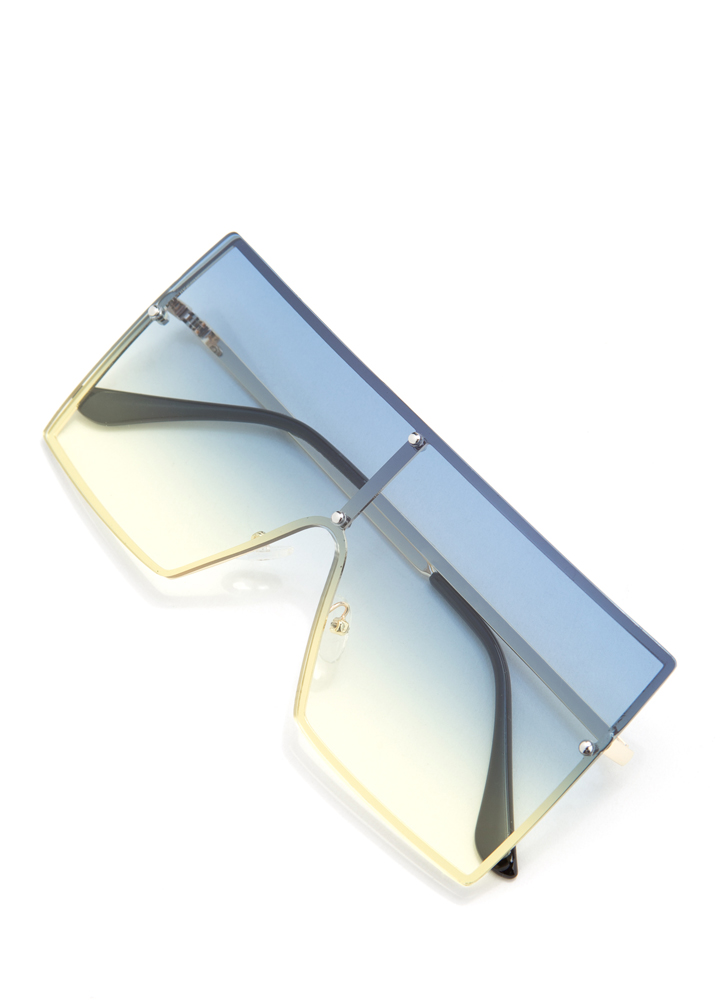 Squared Away Ombre Sunglasses GREEN