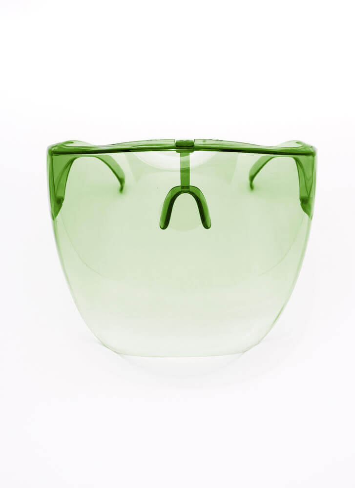 Cover Me Ombre Face Shield Sunglasses GREEN