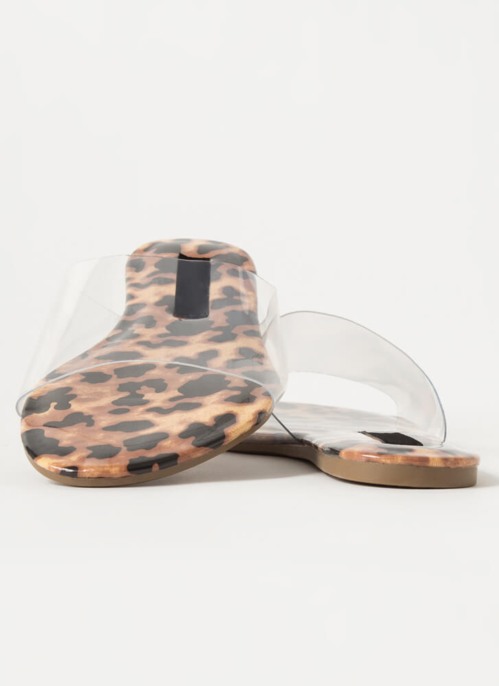I Need To Clear My Head Slide Sandals LEOPARD