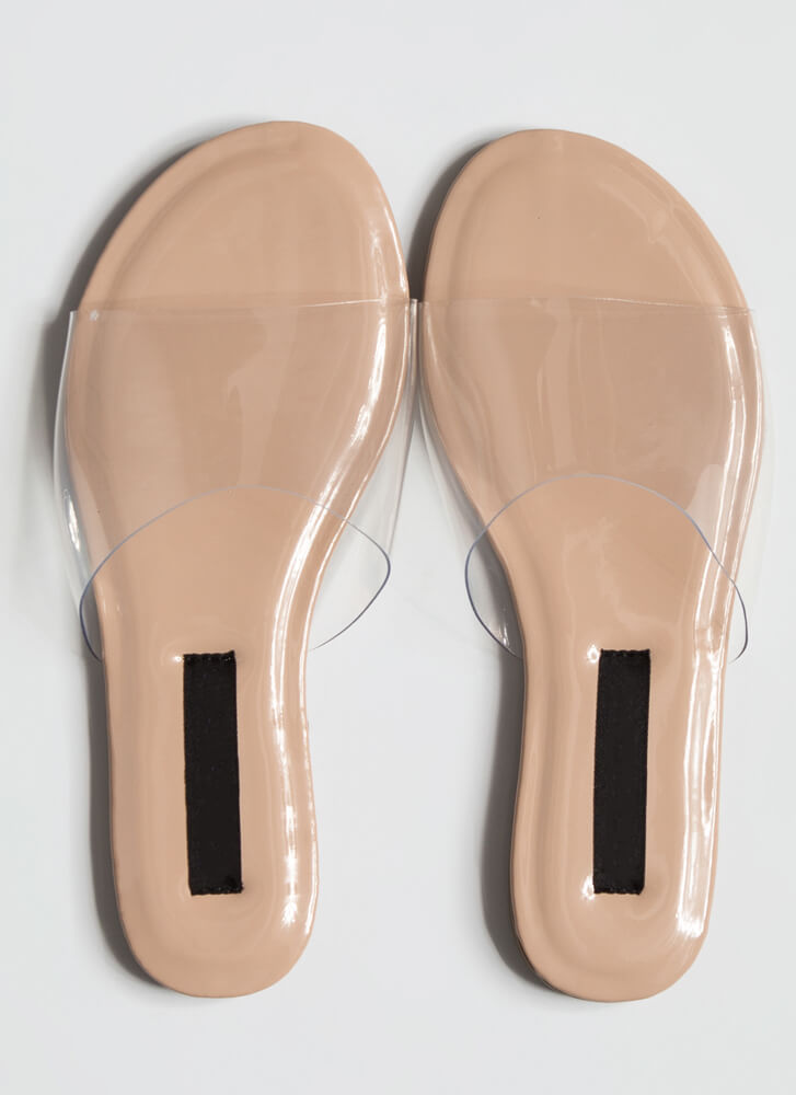 I Need To Clear My Head Slide Sandals NUDE