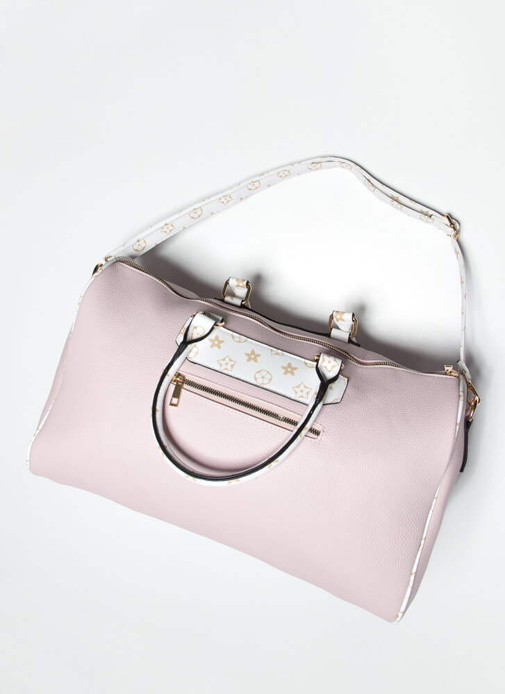Designer Vacation Weekender Bag PINKWHITE