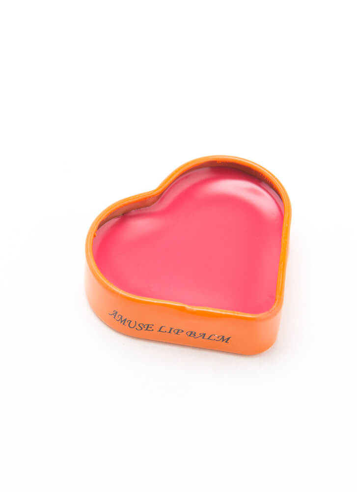 Smooches Heart-Shaped Flavored Lip Balm BUBBLEGUM
