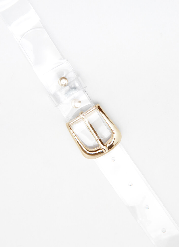 To Be Clear Jeweled Pouch And Belt Set GOLDCLEAR