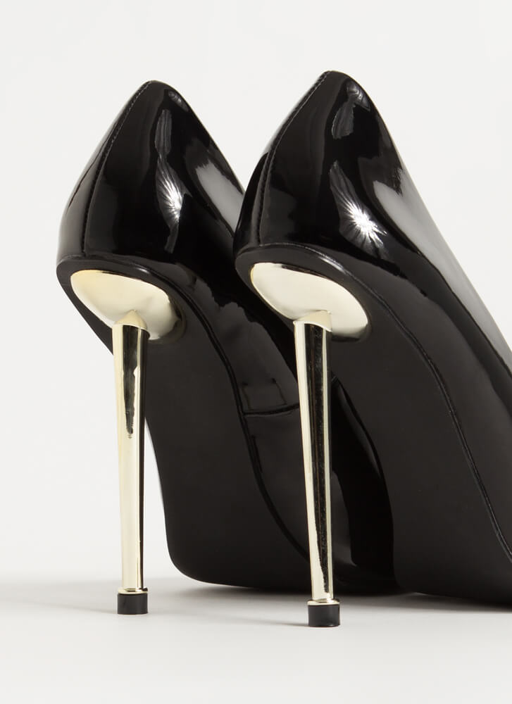 Step On Me Please Pointy Stiletto Pumps BLACK