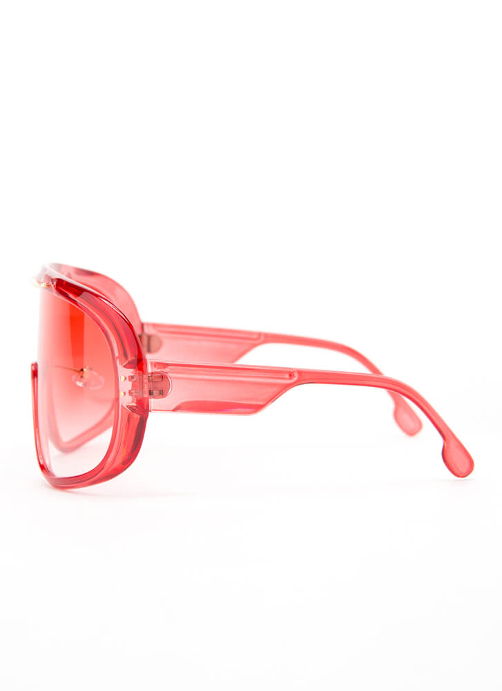 Color My World Goggle Sunglasses RED