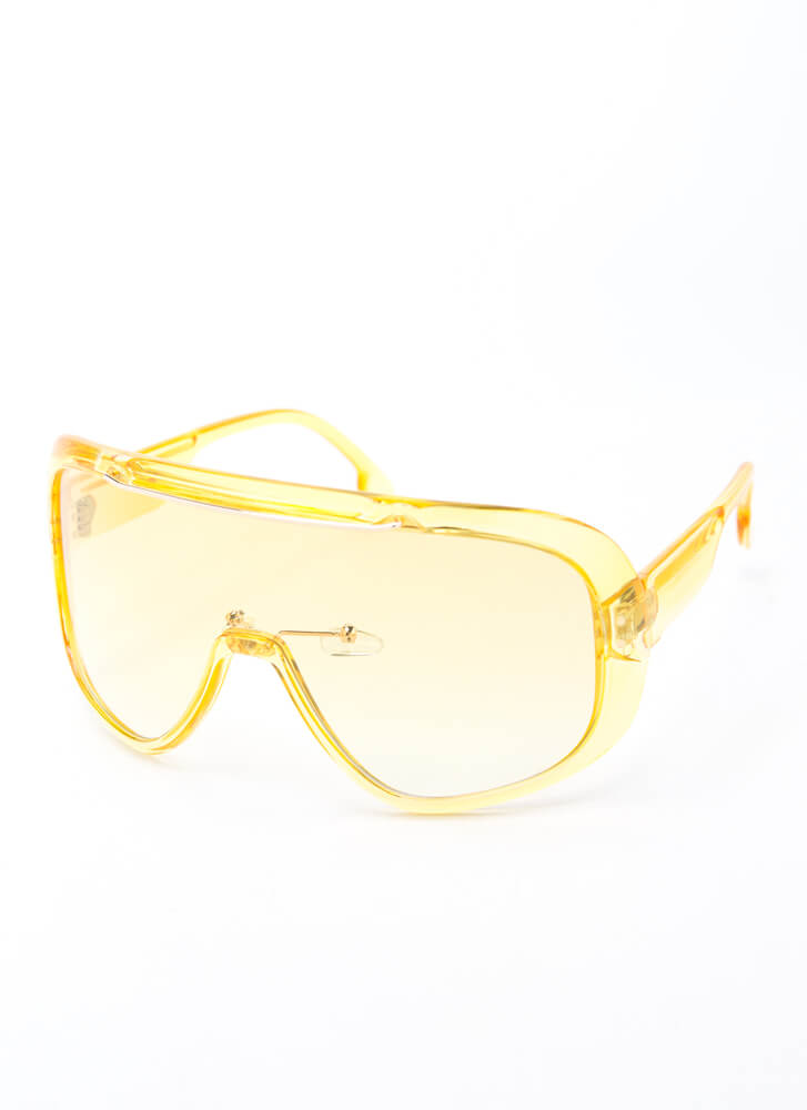Color My World Goggle Sunglasses YELLOW